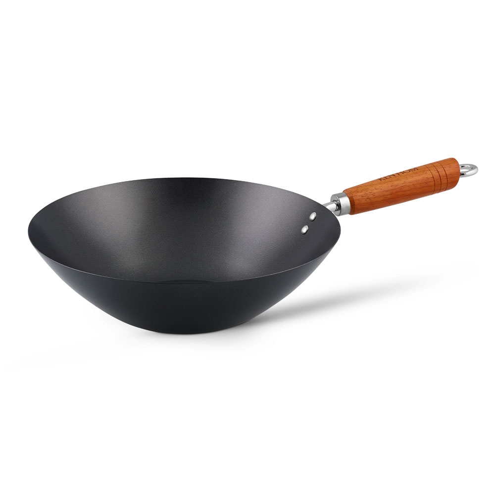 Ken Hom Classic Non-stick Carbon Steel Wok, 12 in.