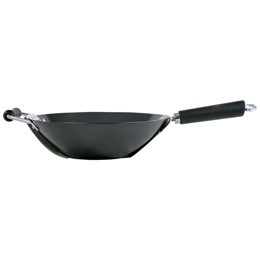 Ken Hom Excellence Non-stick Carbon Steel Wok, 12 in.